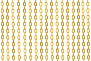 Run #5 - rows of golden chains
